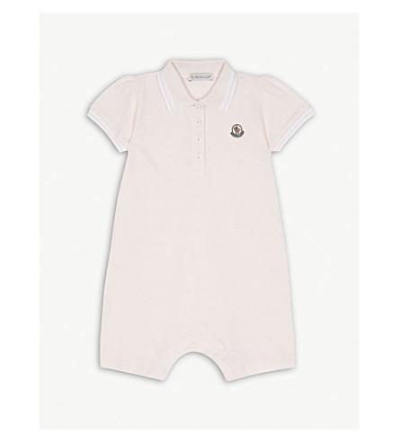 MONCLER Stripe polo bodysuit 3-24 months (Pink