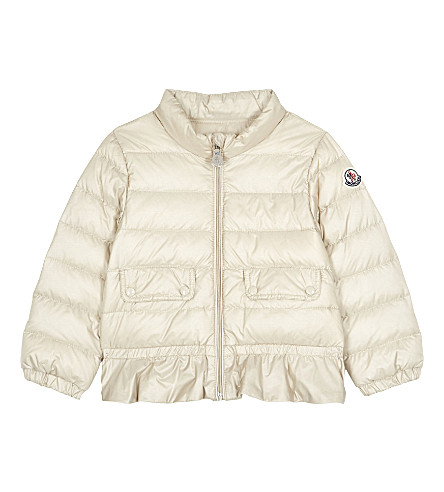 MONCLER Ashlin quilted jacket 6-36 months (207 champagne/cream