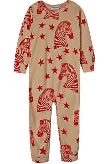 MINI RODINI Zebra print sleepsuit 3-12 months
