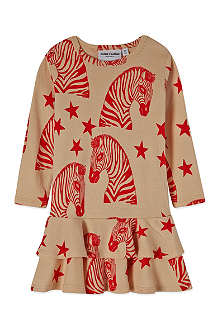 MINI RODINI Zebra print dress 3-12 months