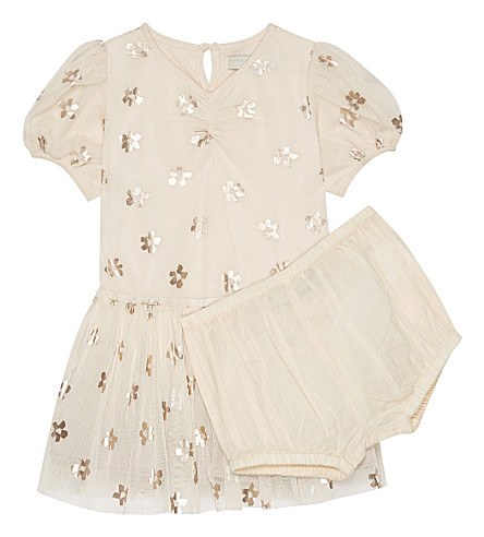STELLA MCCARTNEY Missy floral dress & bloomers 6-36 months (Daisy pr shell