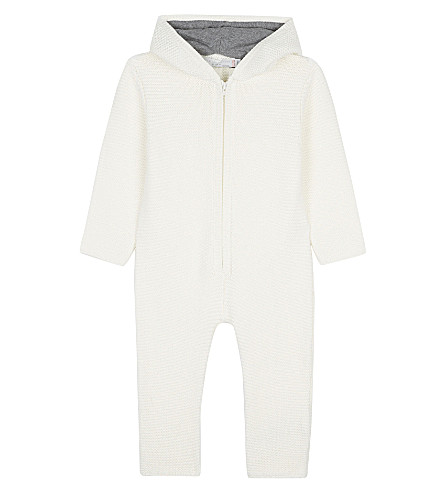 STELLA MCCARTNEY Acorn knitted all-in-one suit 3-12 months (Cloud