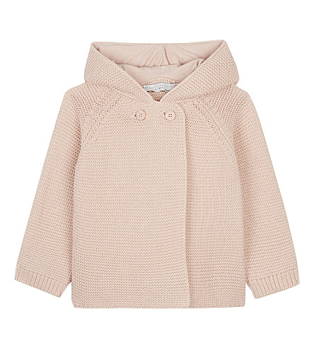 STELLA MCCARTNEY Smudge knitted cardigan 6-24 months (Dusty+rose