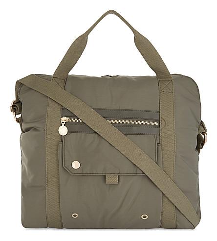 STELLA MCCARTNEY Big Fern changing bag (Croc+khaki