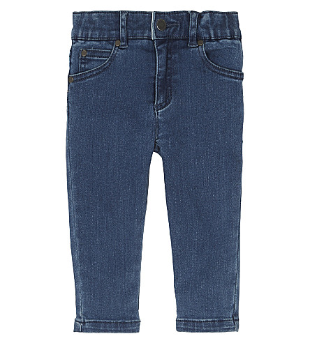 STELLA MCCARTNEY Embroidered denim jeans 6-36 months (Blue+denim