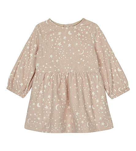 STELLA MCCARTNEY Skippy printed cotton long-sleeved dress 6-36 months (Cosmic+pr+on+pink