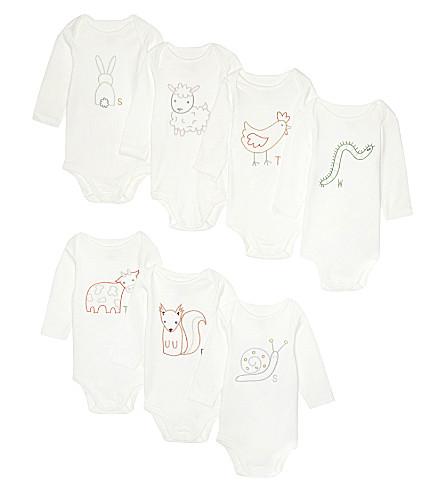 STELLA MCCARTNEY Sammie baby grow week set (White