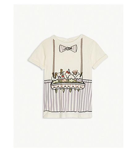 STELLA MCCARTNEY Ice cream seller cotton T-shirt dress 6-36 months (Cloud