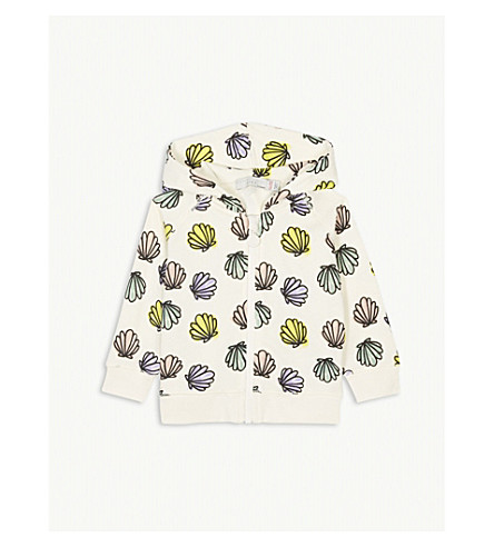 STELLA MCCARTNEY Bertie shells print cotton hoody 6-36 months (Shell