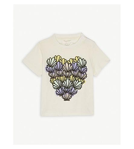 STELLA MCCARTNEY Shell print cotton T-shirt 3-36 months (Cloud