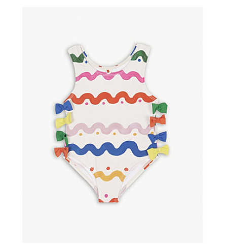 STELLA MCCARTNEY Lisa Wiggle bow detail swimsuit 6-36 months (Wiggle+tile