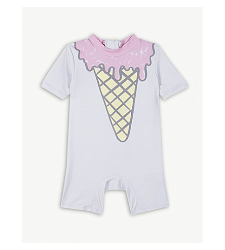 STELLA MCCARTNEY Ice cream print all-in-one suit 6-36 months (Lavender