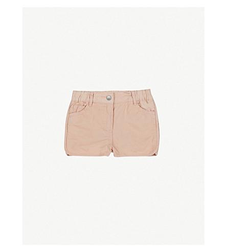 STELLA MCCARTNEY Emma embroidered cotton-twill shorts 6-36 months (Dusky+rose