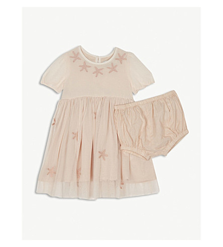STELLA MCCARTNEY Maria dress and bloomers 6-36 months (Dusky+rose