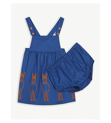 STELLA MCCARTNEY Ella donkey dress 6-36 months (Brilliant+blue