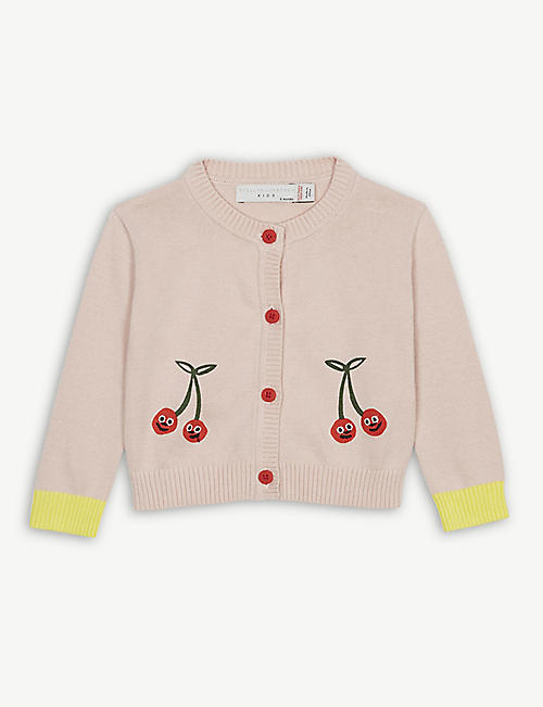 483b47976827 STELLA MCCARTNEY Cherry print knitted cotton cardigan 6 months - 3 years