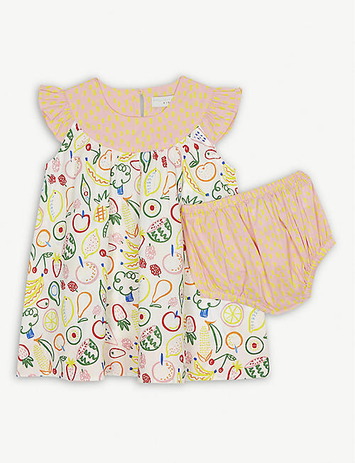 36ebcb2844cb STELLA MCCARTNEY Fruit print cotton dress and bloomers 6 months - 3 years