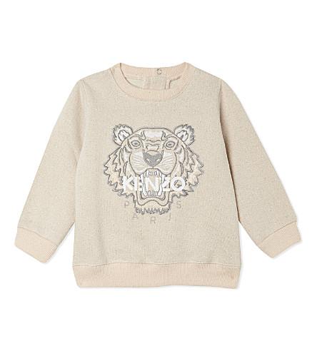 KENZO Tiger cotton sweatshirt 3-36 months (Blush