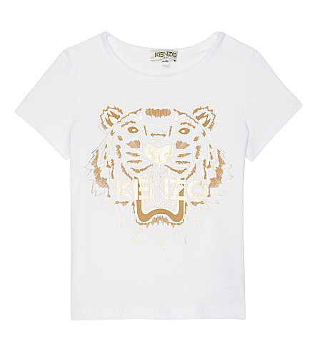 KENZO Tiger cotton T-shirt 2-3 years (Blanc