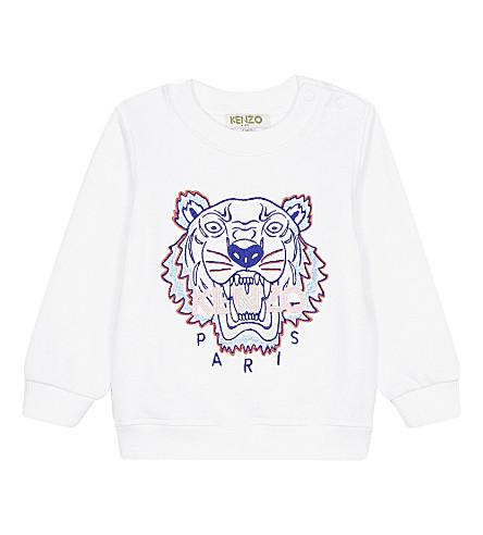 KENZO Tiger cotton jumper 1-18 months (Blanc