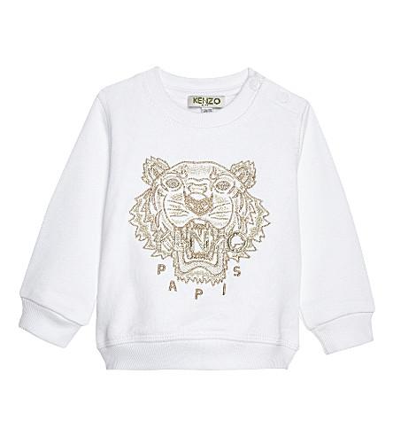 KENZO Tiger cotton jumper 6-18 months (Blanc