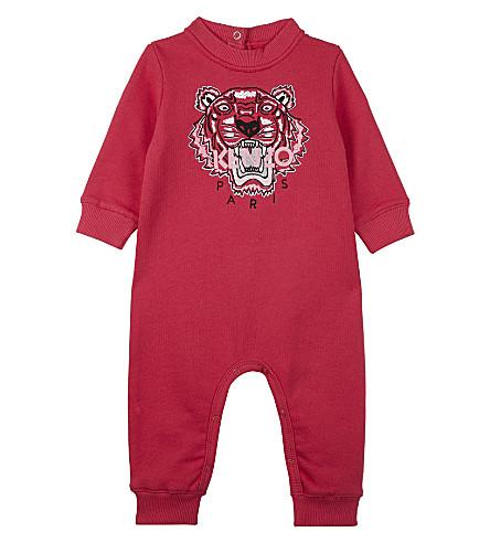 KENZO Tiger cotton sleepsuit 3-18 months (Fuchsia
