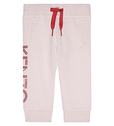 KENZO Striped logo tracksuit bottoms 3-18 months (Pale+pink