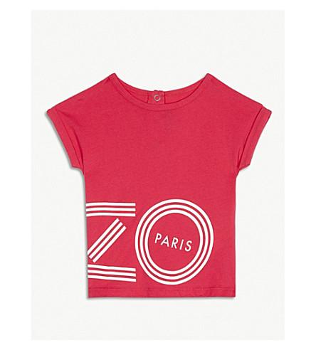 KENZO Logo cotton T-shirt 6-36 months (Fuschia