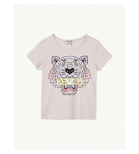 KENZO Tiger print cotton T-shirt 6-36 months (Baby+pink