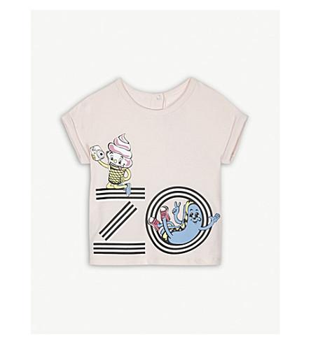 KENZO Fiesta striped cotton T-shirt 6-36 months (Baby+pink