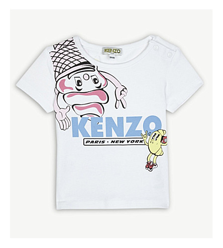 KENZO Food Fiesta print cotton T-shirt 6-36 months (White