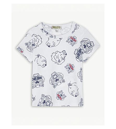 KENZO Tiger print cotton T-shirt 6-18 months (White