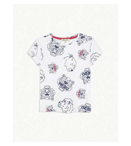 KENZO Tiger cotton T-shirt 2-3 years (White
