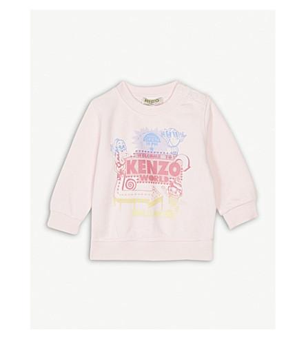 KENZO Fiesta cotton jumper 3-36 months (Baby+pink