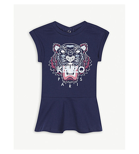 KENZO Tiger cotton dress 6-36 months (Navy