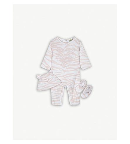 KENZO Tiger stripe cotton baby set 1-6 months (Baby+pink
