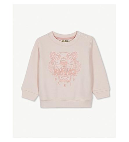 KENZO 虎棉混纺毛衣 6-18 月 (中 + 粉红色