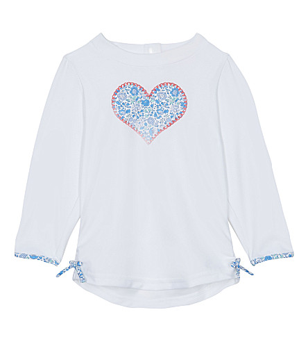 SUNUVA Liberty heart print rash vest 3-24 months (Blue