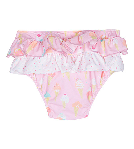 SUNUVA Ice cream print frill swimming bottoms 3-24 months (Icecream
