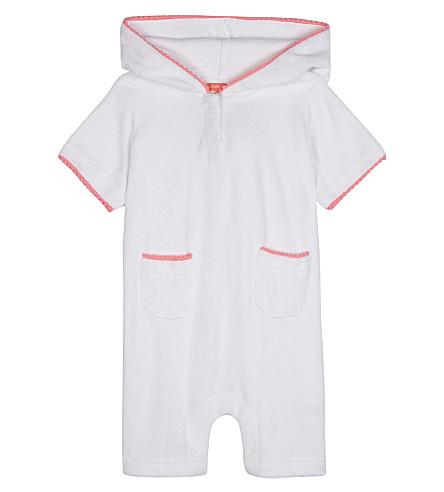 SUNUVA Cotton-blend towelling onesie 3-24 months (White