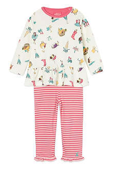 JOULES Printed top and leggings 6months-3years