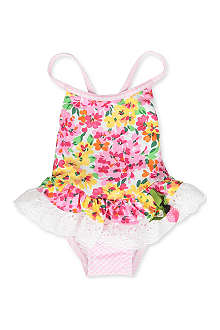 PATE DE SABLE Floral swimsuit 6 months-2 years