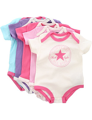 CONVERSE Five-pack bodysuit set 6-9 months