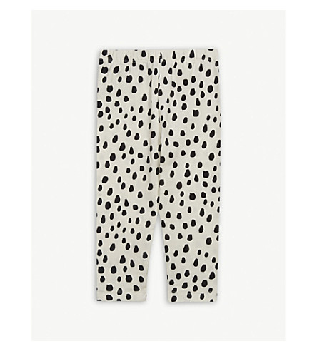 NOE & ZOE Cotton leggings 0-18 months (Black+dots