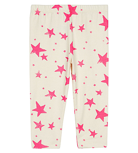 NOE & ZOE Cotton leggings 0-18 months (Neon+pink+star