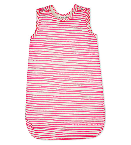 NOE & ZOE Cotton sleeping bag (Pink+stripe