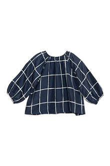 BELLE ENFANT Celine windowpane check blouse 0-24 months