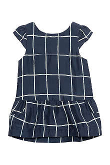 BELLE ENFANT Be kitty windowpane check dress 0-24 months