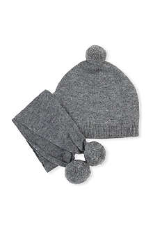 BELLE ENFANT Be pompom hat and scarf set
