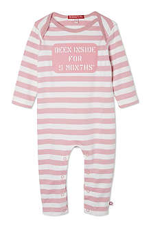 OH BABY LONDON Been inside for 9 months baby-grow newborn-12 months